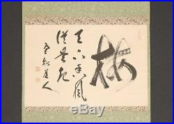 2421jsbMc11 Japanese ZEN hanging scroll Shibayama Zenkei plum Chagake
