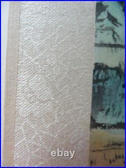 2 ANTIQUE JAPANESE ORIENTAL ORIGINAL LANDSCAPE WATERCOLOUR Paintings SIGNED