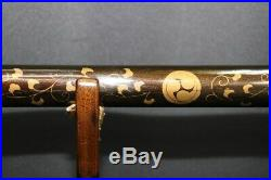 (AB-96) Gold MAKIE painting NAGINATA Koshirae
