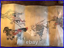 A rare Japanese Edo Period scroll painting Buddha, Chinese, Tibetan, Hokusai