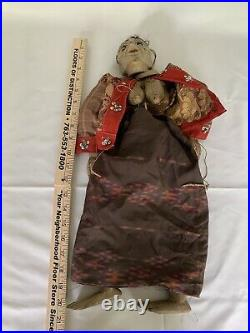 Antique 21 Japanese Woman Carved Painted Wood Marionette Puppet chinese asian