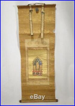 Antique Japanese Scroll Amida Nyorai Buddha 57932