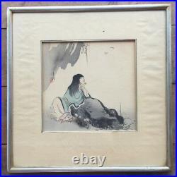 Antique Japanese Woodblock Print Signed Artist Ogata Gekko (1859-1920) Geisha