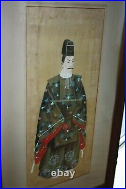 Antique Japanese dressing screen with paintings