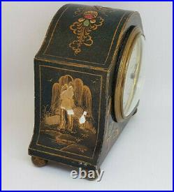 Antique Mappin & Webb 8days Clock French Made Japanese Paintings