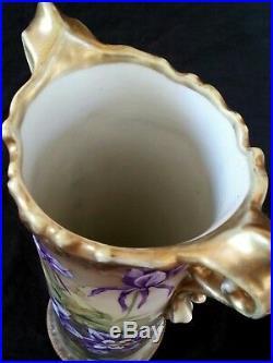 Antique Nippon hand painted porcelain vase 11/28 cm
