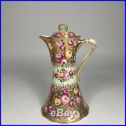 Antique Royal Nippon Kiran chocolate pot, Japanese hand painted porcelain gold