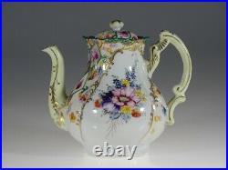 Antique Victorian Hand Painted Floral Tea Pot, Unknown Maker c. 1880