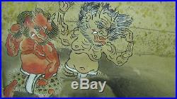Edo Meiji Oni Tale Of Genji Japanese Painting Shoji