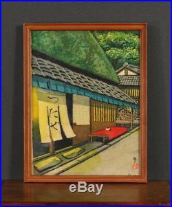 En0775jycHg9 Japanese framed Hand painting Ido Masao TSUTAYA