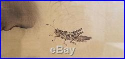 Finest Quality Signed Antique Japanese Painting of Monkeys on Fabric under Glass