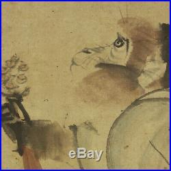 HANGING SCROLL JAPANESE PAINTING JAPAN Monkey ANTIQUE Original Kakejiku ART 102p