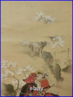 HANGING SCROLL KAKEJIKU Samurai Musha by Michinobu Eisenin Kano / 916
