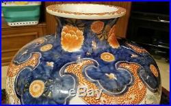 HUGE 19th Century Japanese Meiji Imari Porcelain Floor Vase Painted With Birds