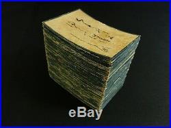 HYAKUNIN ISSHU Japanese Antique Playing-Cards Hand Painted 1797 EDO 18th C. 565