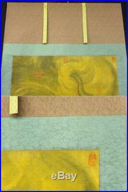 Hanging Scroll Kakejiku Japanese Antique Painting Art Picture Japan K356