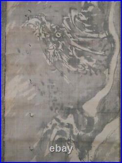 JAPANESE HANGING SCROLL KAKEJIKU / Dragon Painting by Buncho Tani #902