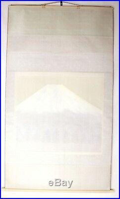 JAPANESE HANGING SCROLL KAKEJIKU Mt. Fuji Painting by Shunsuke #391