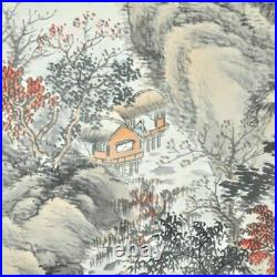 JAPANESE PAINTING HANGING SCROLL FROM JAPAN OLD LANDSCAPE ANTIQUE PICTURE 235m