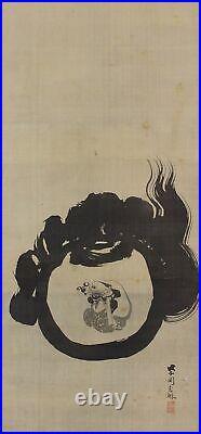 JAPANESE PAINTING HANGING SCROLL JAPAN Gem Jewel Old Art ORIGINAL ANTIQUE 626m