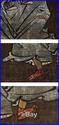 JAPANESE PAINTING HANGING SCROLL JAPAN KABUKI OLD Man PICTURE ANTIQUE 913h