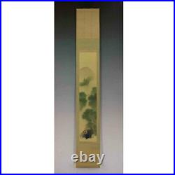 JAPANESE PAINTING HANGING SCROLL JAPAN LANDSCAPE ANTIQUE Old Art PICTURE 581n