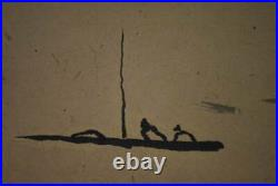 JAPANESE PAINTING HANGING SCROLL JAPAN LANDSCAPE ANTIQUE PICTURE AGED ART 891m