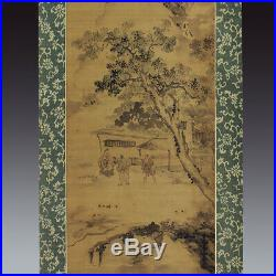 JAPANESE PAINTING HANGING SCROLL JAPAN LANDSCAPE ORIGINAL ANTIQUE GANKU 998h
