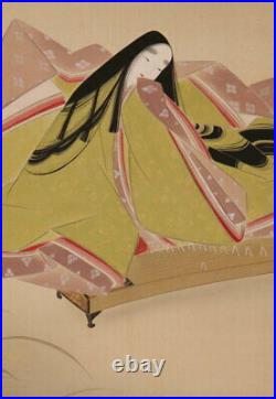 JAPANESE PAINTING HANGING SCROLL JAPAN Noble BEAUTY LADY Antique PICTURE 694p