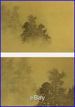 JAPANESE PAINTING LANDSCAPE HANGING SCROLL JAPAN Old ART ORIGINAL ANTIQUE 600m
