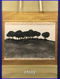 JAPANESE PAINTING LANDSCAPE HANGING SCROLL JAPAN VINTAGE PICTURE Art e038