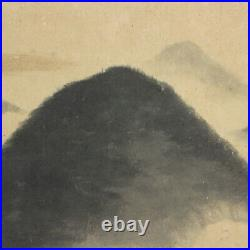 JAPANESE PAINTING LANDSCAPE HANGING SCROLL JAPAN VINTAGE PICTURE MOUNTAIN 567m