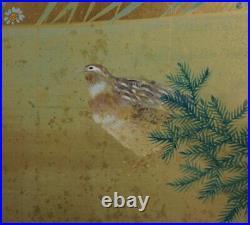 Japan Zen painting 1920 Byobu art interior wind screen Nanyou