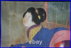 Japan painting Shunga 1880s antique Japanese erotic art craft