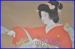Japanese Hanging Scroll Painting Silk Art Japan