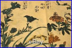 Japanese KEISAI ORIGINAL Painting book Woodblock print ukiyoe antique hokusai