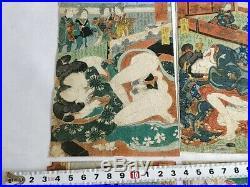 Japanese Shunga Paper 10 picture set UKIYOE Erotic woodblock print -c0313