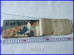 Japanese Shunga Paper picture on Book UKIYOE Erotic woodblock print Edo-d0610