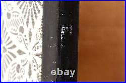 Japanese VTG Chinese 4 Panel Folding Screen Byobu Painted 68x36 Asian Antique