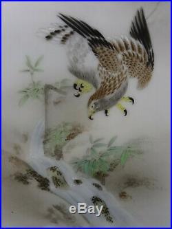 Japanisches Porzellan Bild antique Japanese Porcelain plate eagle painting Meiji