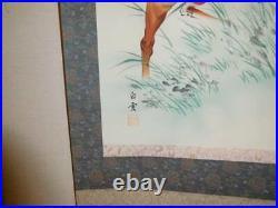 KAKEJIKU Horse Animal Hanging Scroll Japanese painting Box