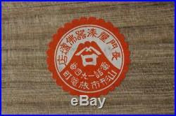 KG19 Japanese Antique pottery Landscape painting Satsuma ware KOGO signed withbox