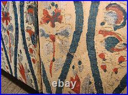 Late 18th C. Kano School 4 Folding Panel Screen Signed Crane Painting on Silk