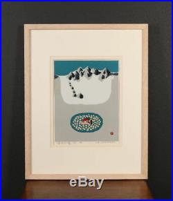 Nw1389ytBi12 Japanese framed print AZECHI UMETARO KARASAWAGOYA AP 1967
