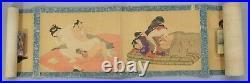 ORIGINAL Japanese Art Shunga 12 Pictures Painting Scroll Erotic Print UKIYOE