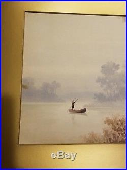 R. Hidesaki 1900 -1920 Japanese watercolor painting