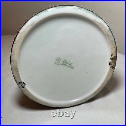 Rare antique Japanese Moriage porcelain enameled hand painted friar mug stein