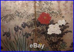Stunning Byoubu, painted screen, Meji period 19 th century DD25IIT