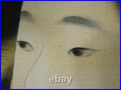 UK520 KAKEJIKU KIMONO Bijin-ga Hanging Scroll Japanese Art painting Picture