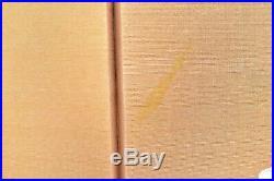 VTG Japanese Chinese 4 Panel Folding Screen Byobu Painted 46x24 antique GOLD
